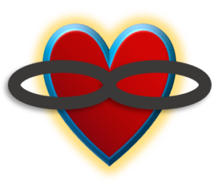 Polyamory heart and infinity symbol